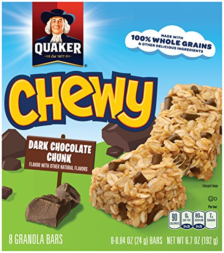 Chewy Granola Bar Calories (Quaker Chewy Granola Bars 90 Calories Low Fat Chocolate Chunk, 8 ct, .84 oz each)