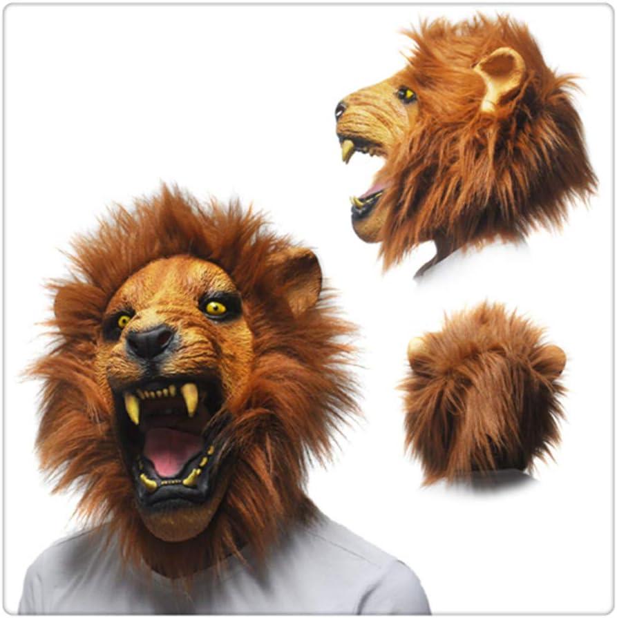 Z-One 1 - Máscara de látex para disfraz de león amarillo de ...