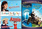 Slumber Party Pack Nanny McPhee / Matilda / Annie / Madeline & Nanny McPhee Returns DVD Set Classic Family Fantasy Movie Bundle 4 Favorites