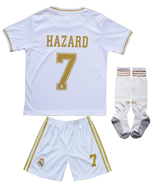 Amazon.com: SecenMerch 2019/2020 New Hazard #7 Real Madrid ...