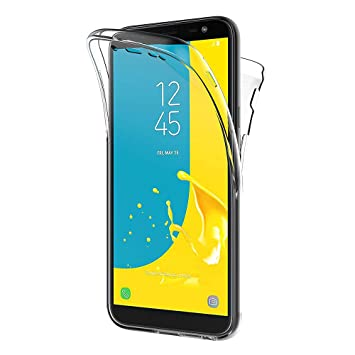 AICEK Funda Samsung Galaxy J6 2018, Transparente Silicona 360°Full Body Fundas para Samsung J6 Carcasa Silicona Funda Case (5,6 Pulgadas)