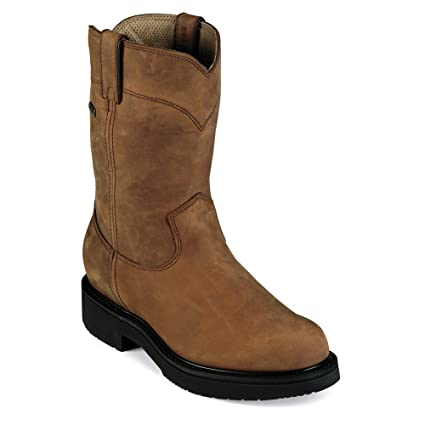 a302516780ad Amazon.com  Justin Men s Transcontinental Eh Waterproof Work Boot ...