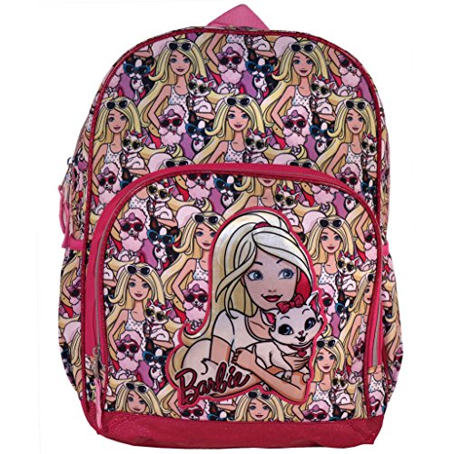 Barbie Furry Friends 16-inch Backpack with Side Mesh Pockets