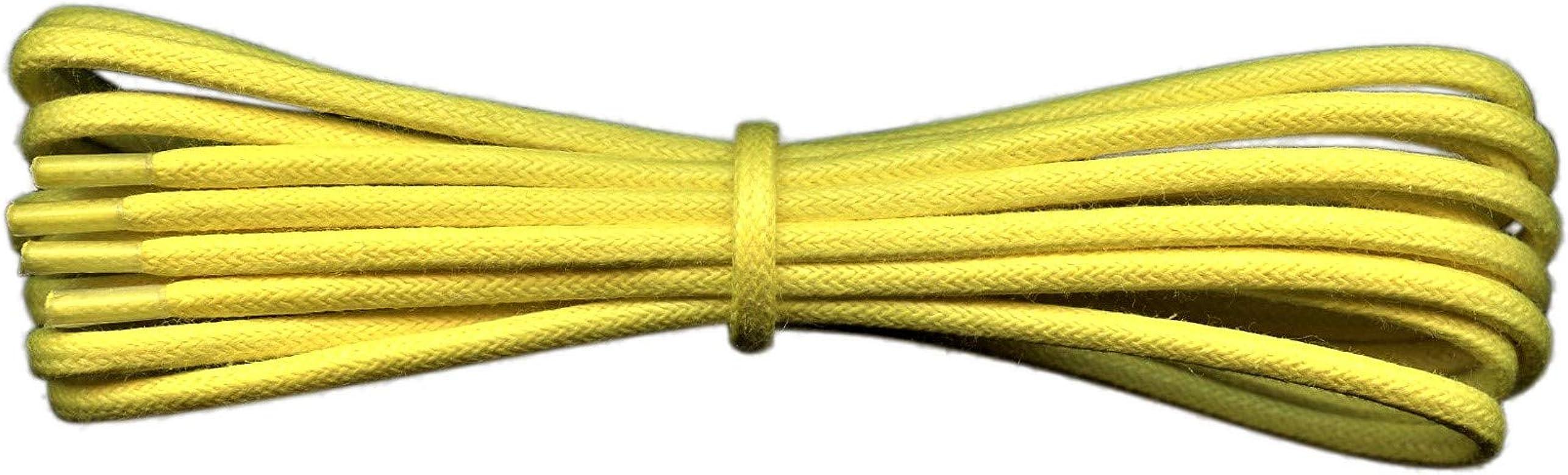 Fabmania 2 mm redondo amarillo encerado algodón cordones-45 cm de ...