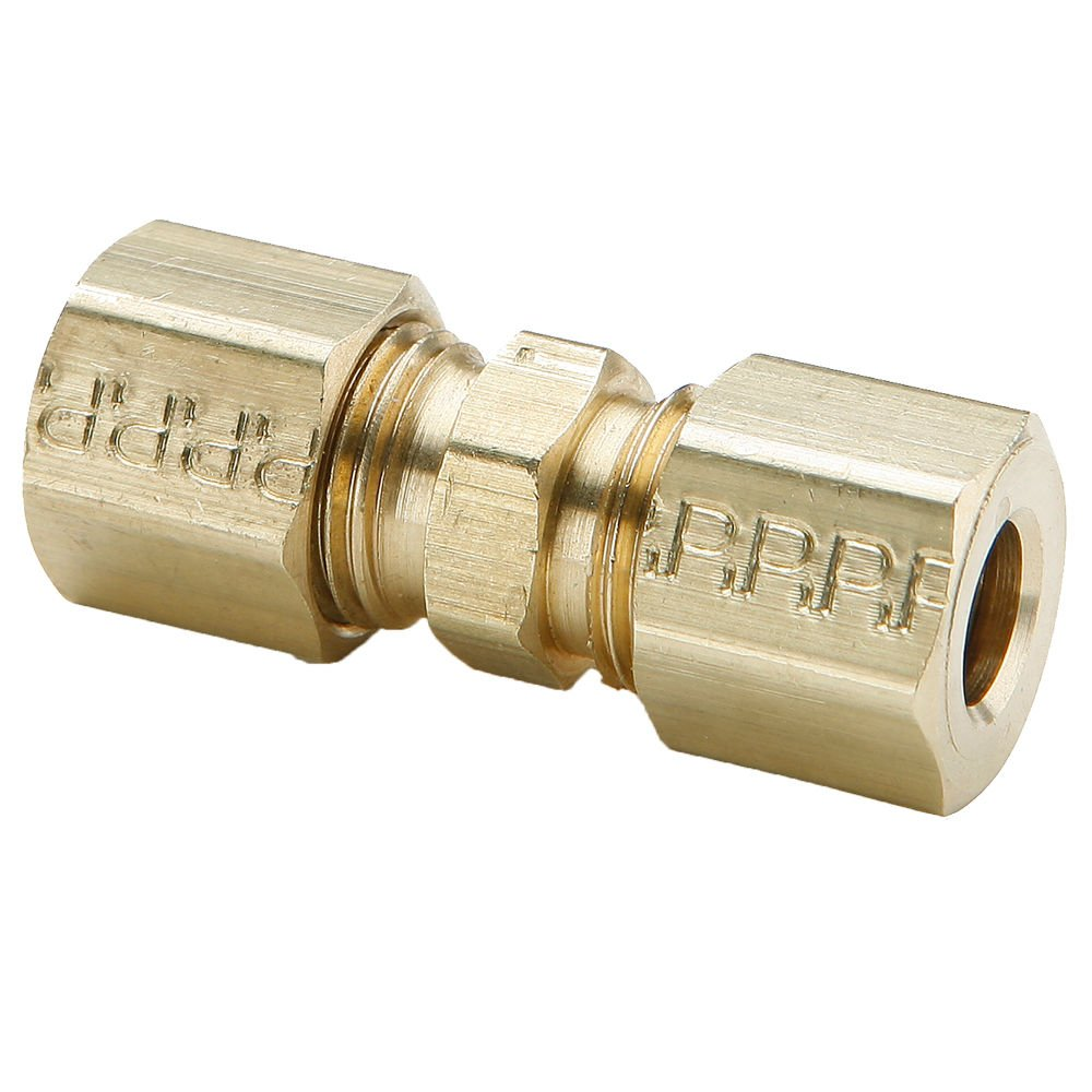 Compression Union Tube to Tube Pack of 10 Pack of 10 7//16 Brass 7//16 Parker 62C-7-pk10 Fitting
