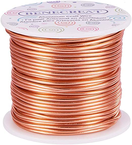 3 Yards BROWN 12 Gauge Aluminum Wire for Wire Wrapping