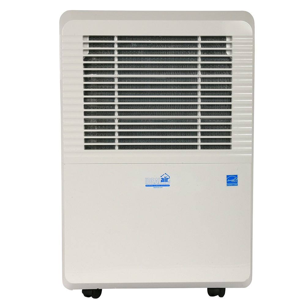 Ideal-Air Dehumidifier | 50 Pint | Portable, LED Display w/ Dehumidistat and Timer Included - Perfect for home, office, garage, shop, marine and RV applications - UL Listed