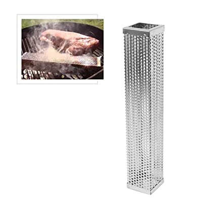 Yardwe Pellet Smoker Tube 12 Inch Stainless Steel Wood Pellet Tube Smoker for Smoking Cheese, Fish, Pork, Beef, Nuts Barbecue Grilling Accessories : Garden & Outdoor