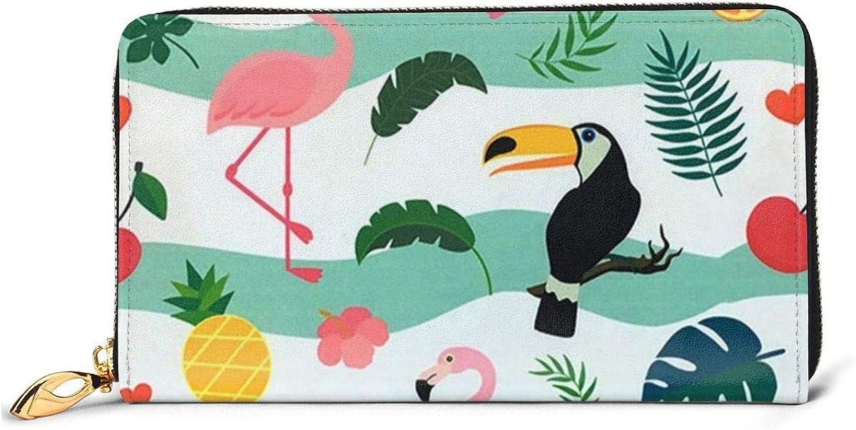 Women Genuine Leather Wallets Starfish Credit Card Holder Organizer Ladies Purse Zipper Around Clutch Cash Pocket