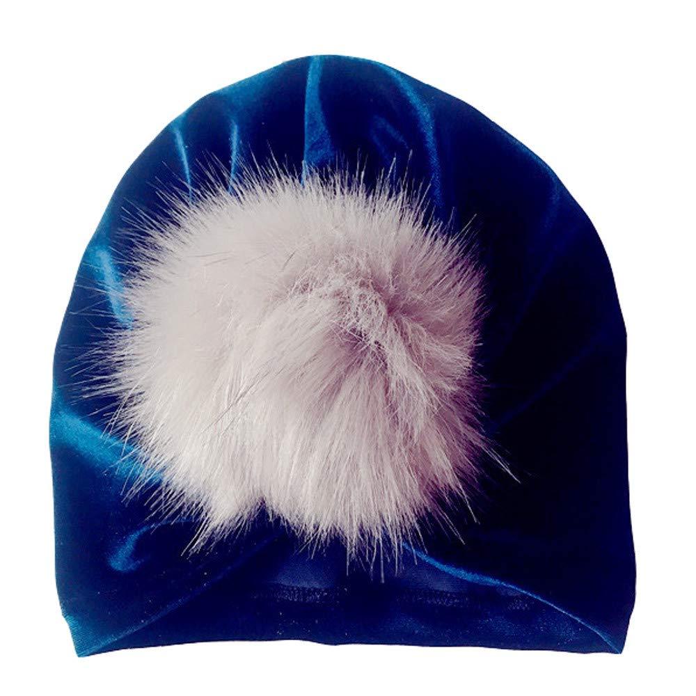 Kasien Kids Baby Hat, Newborn Toddler Kids Baby Boy Girl Venonat Turban Beanie Hat Headwear Hat (Navy)