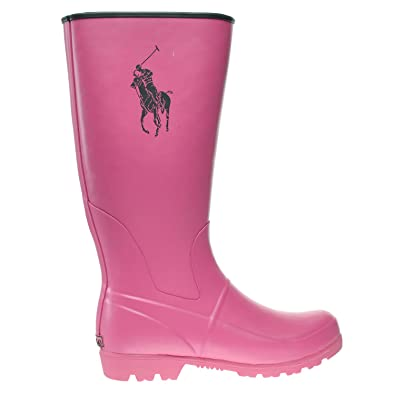 fbd9df342 Polo Ralph Lauren Kids Proprietor Large Pony Rain Boot (Little Kid Big Kid)