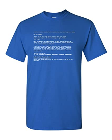 35e1b1837355e Thread Science Blue Screen of Death PC Computer IT Funny Video Gamer Adult  Men s T-Shirt