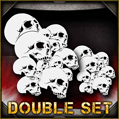 - Skull Background 9 AirSick Airbrush Stencil Template