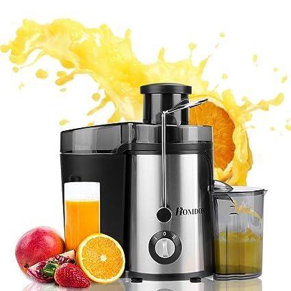 Homdox Licuadora Automática para Zumos Licuadora de vaso de Frutas 1.5L Acero Inoxidable