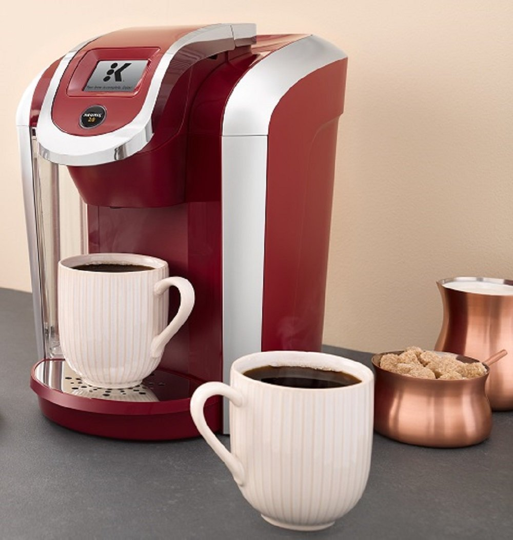 Keurig K475 Single Serve Programmable K- Cup Pod Coffee Maker with 12 oz brew size and temperature control, Vintage Red by Keurig (Image #4)