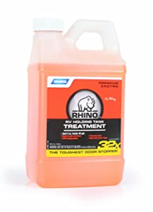Camco 41514 Rhino Heavy Duty Holding Tank Treatment -Eliminates Tough Odors in Your RV Tote Tank for Up to 7 Days and Digests Waste and Tissue - Pine Scent , 64 oz