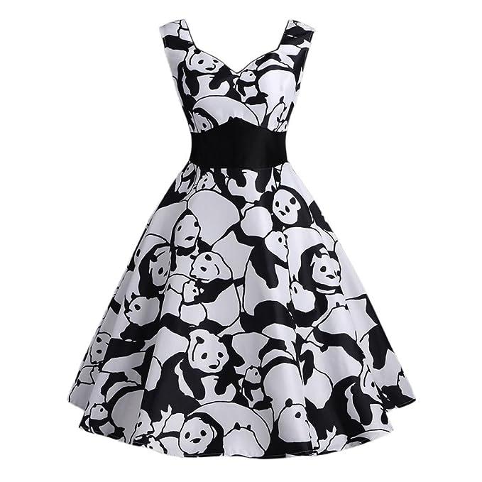 Vestidos Vintage Mujer AñOs 50 LHWY, Vestidos De Fiesta Con Estampado De Animal Vestidos Ajustados