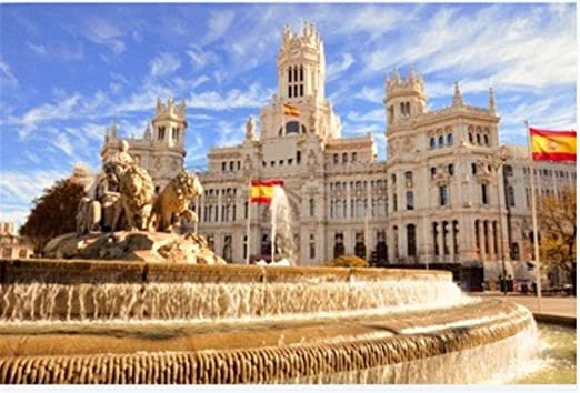 Puzzle 1000 Piezas La Famosa Fuente De Cibeles En Madrid España para Niños Adultos Juguetes Regalo Rompecabezas: Amazon.es: Hogar