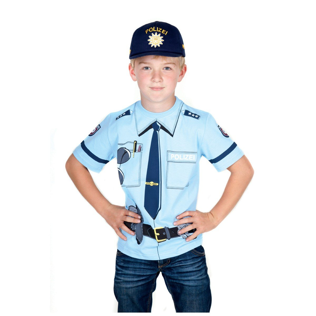 Kid\'s Shirt Polizei T-Shirt blau, Größe 92: Amazon.de: Spielzeug
