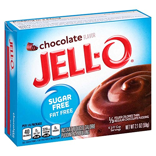 Jell-O Sugar-Free Chocolate Instant Pudding Mix 2.1 Ounce Box (Pack of 6)