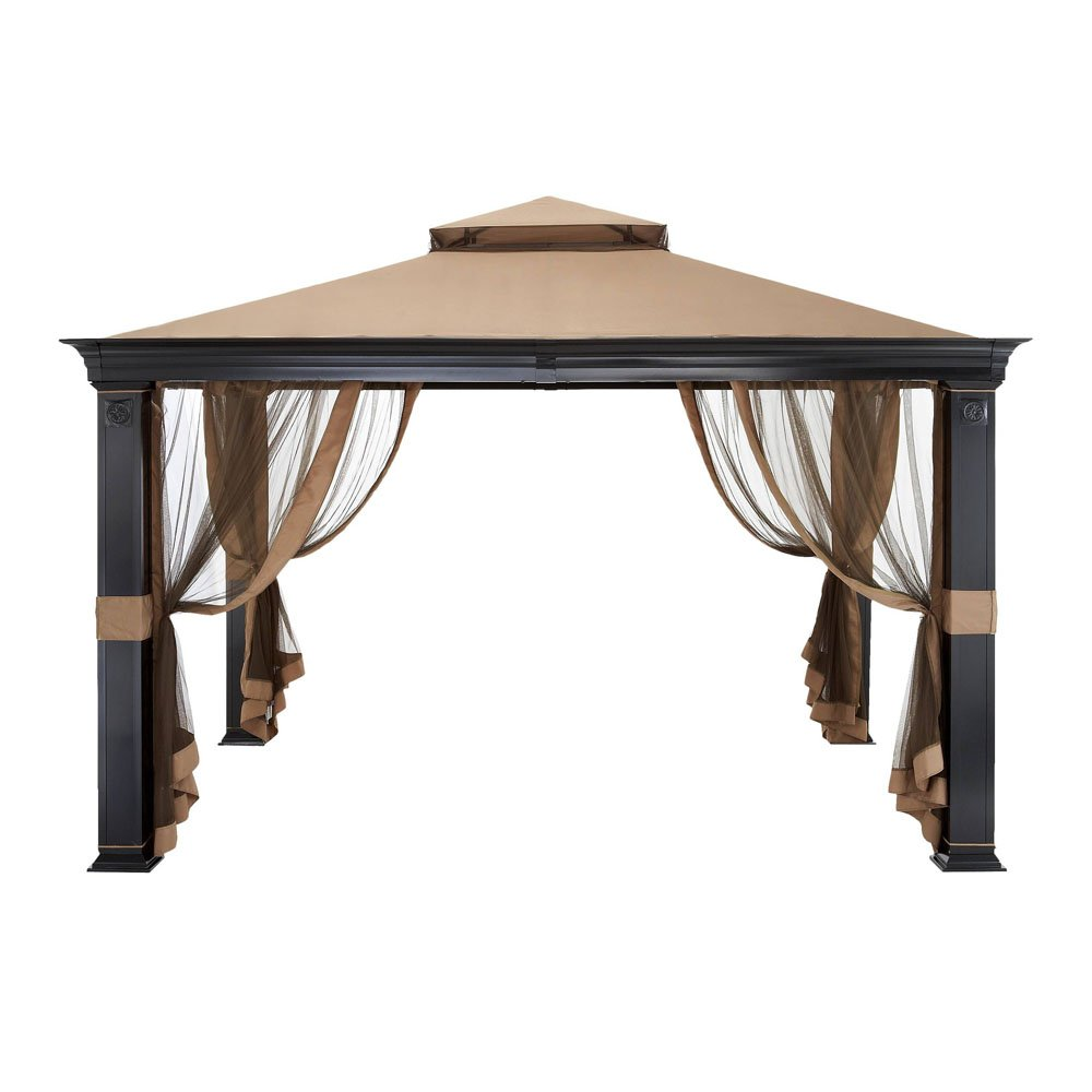Garden Winds Tivering Two-Tiered Gazebo Replacement Canopy - RipLock 350 LCM944B-RS