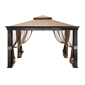 Garden Winds Tivering Two-Tiered Gazebo Replacement Canopy - RipLock 350