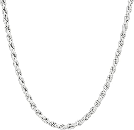 Vintage Beautiful Italy Gold Plated Long Rope Chain Design Necklace 925 Sterling Silver NC 1812