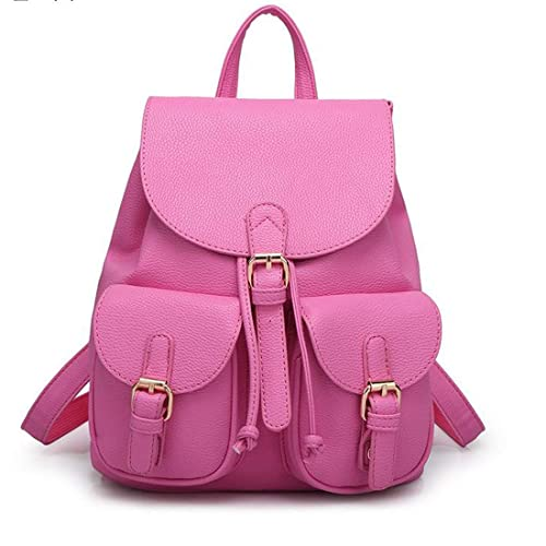 54c7e1e7c5c3 Alice New Women Leather Backpacks Students School bags for Girls Teenagers  Travel Rucksack Black Color Small
