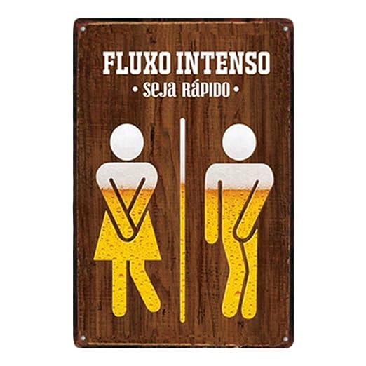 Hosaire 1x fluxo Intenso Cartel de Estaño Signo de Aseo ...