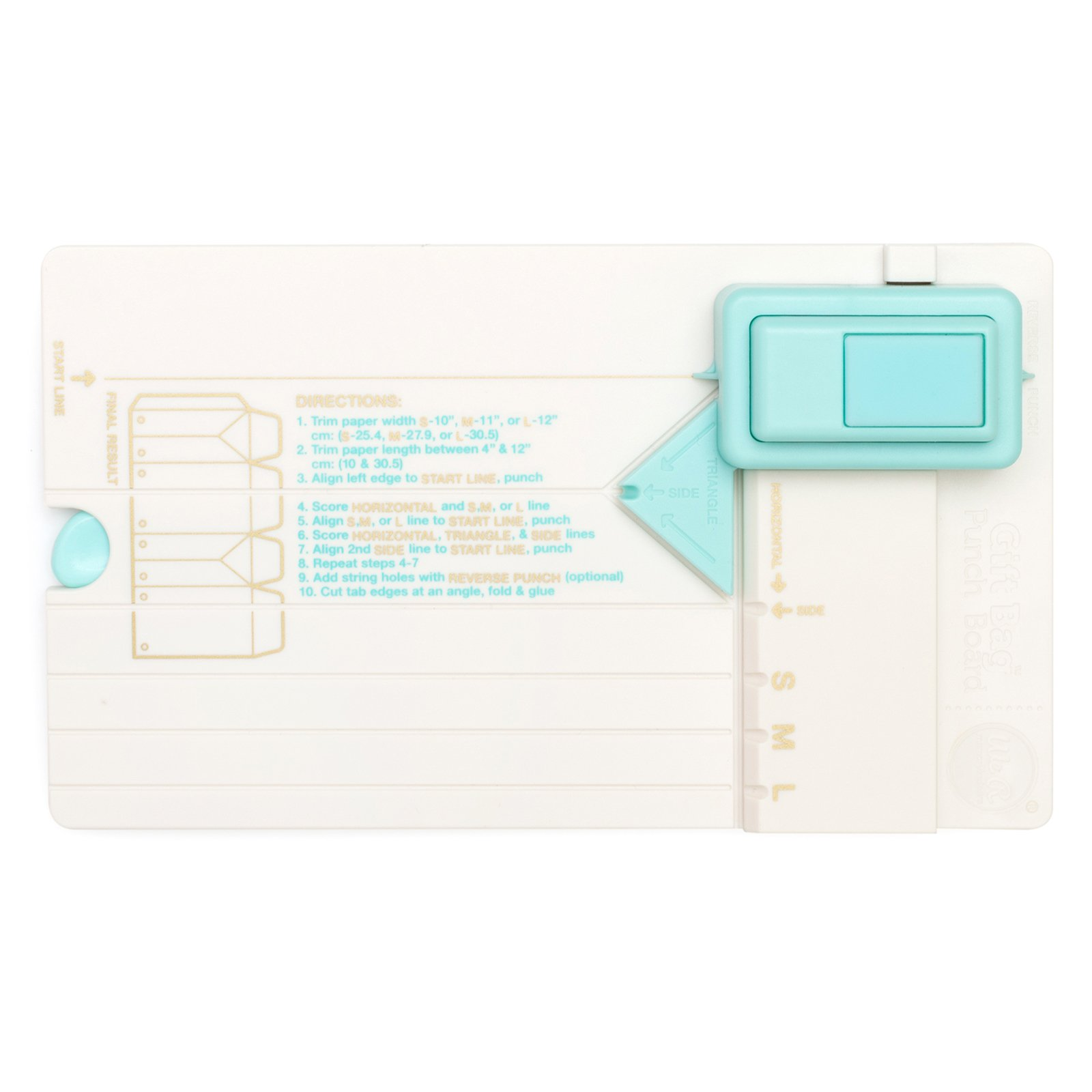 Gift Bag Punch Board by We R Memory Keepers | Includes punch board and detachable scoring tool, Multi color
