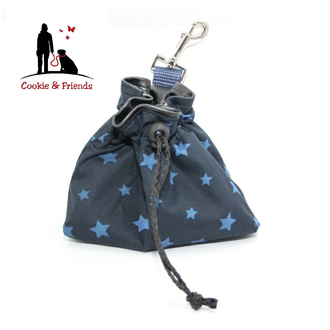 Leckerlibeutel Blue Stars, Leckerlibeutel, Leckerlitasche, Leckerli Beutel, Leckerli Tasche, Hund, Hund Leckerli, Leckerlibeutel Sterne, Sterne