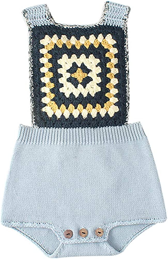 Bratyeessi Baby Girls Boys Rompers Kids Autumn Spring Jumpsuit Cute Newborn Baby Clothes Knitted Bodysuit 0-24 Months