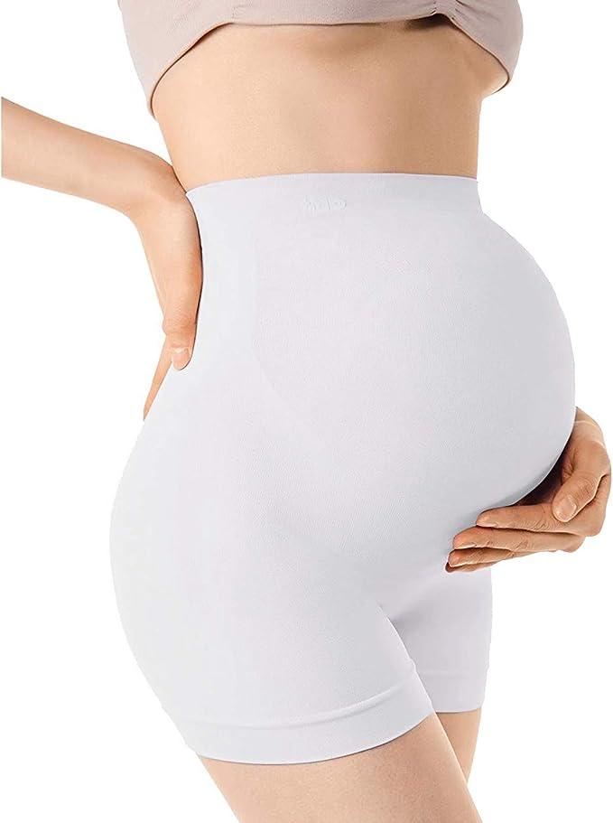 +MD Braguitas para premam/á Mujeres Maternidad Bragas Calzoncillo Ropa Interior Embarazada con Cintura Alta Apoyar el Abdomen NudeL