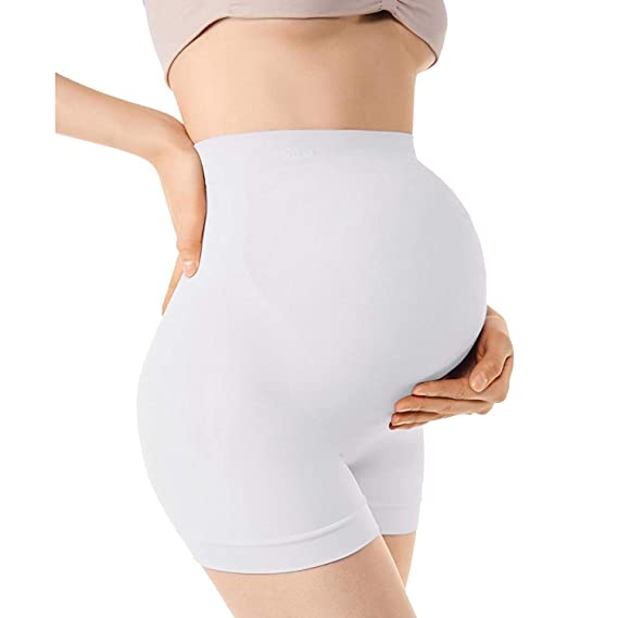74c1abe5f9d25 MD Maternity Underwear Activewear Pregnancy Shapewear Panties Belly Support  WhiteL: Amazon.ca: Sports & Outdoors
