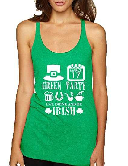 77e2621a800 Allntrends Women s Tank Top Green Party St Patrick s Day Shirt Drunk Top   Amazon.co.uk  Clothing