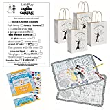 Wedding Activity Kits for Kids - Wedding Activity Books and Crayons (12), Wedding Favor Bags (12) and Wedding Scavenger Hunt Sheets (12) Wedding Fun Activity Placemats (12)