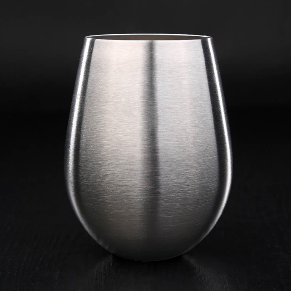 Stainless Steel Stemless Wine Glasses,Coffee Mug, Desk Mug, 17 oz