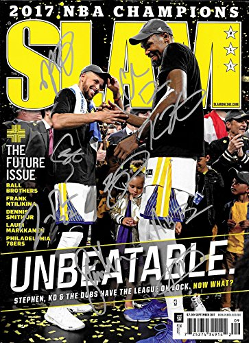 Golden State Warriors Team Signed Autographed 2017 Slam Complete Magazine - Curry and Durant - COA -NR/MT