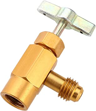 "Can Dispensing R-134a R-134 AC Refrigerant Brass 1//2/"" ACME Thread Valve Tool"