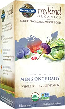 60-Count Garden of Life mykind Organic Men's Vitamin Supplement Tablets