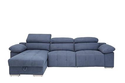 Amazon.com: Blackjack Furniture 7306-BLUE-PWR-LAF Valencia ...