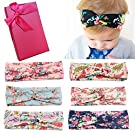 Elesa Miracle Hair Accessories Sweet Baby Girl's Gift Box with Chiffon Lace Hair Bow Flower Headband (6pc Set 4)