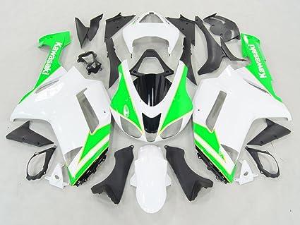 Amazon.com: Moto Onfire Green Black Plastic Fairings Kits ...