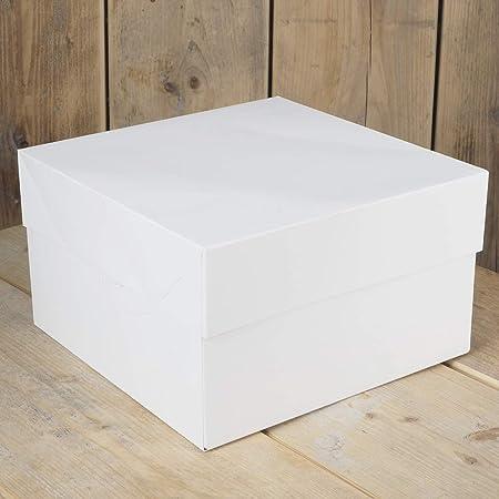 FunCakes FC0905 Caja para Tartas (33 x 33 x 15 cm, 25 Unidades), Color Blanco, Papel: Amazon.es: Hogar