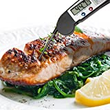 Newest Digital Thermometer - Ultimate Cooking Thermometer for All Food, Grill, BBQ and Candy - Innovative & Speedy Meat Thermometer That is Built To Last (Black)