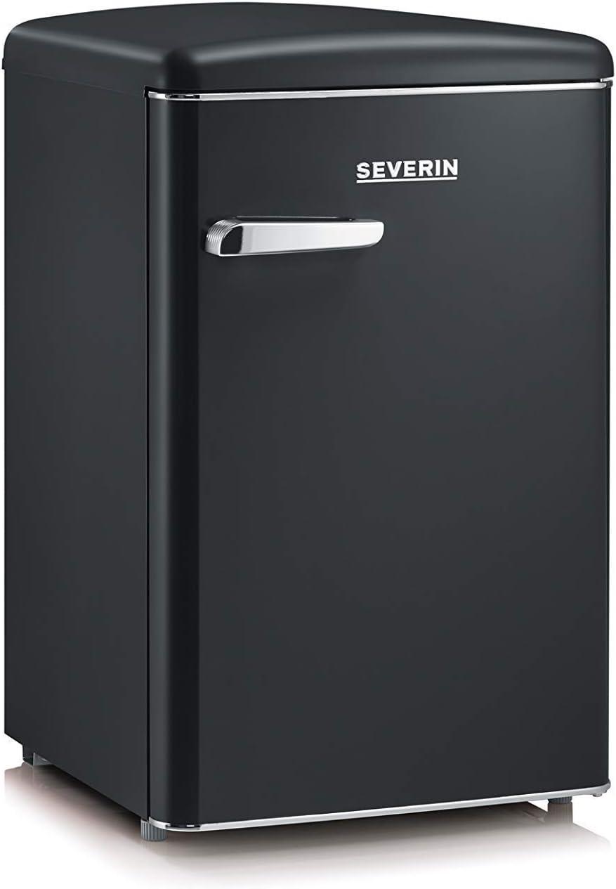 SEVERIN RKS 8832, Mini-Frigorífico Retro, 106 L, Negro mate
