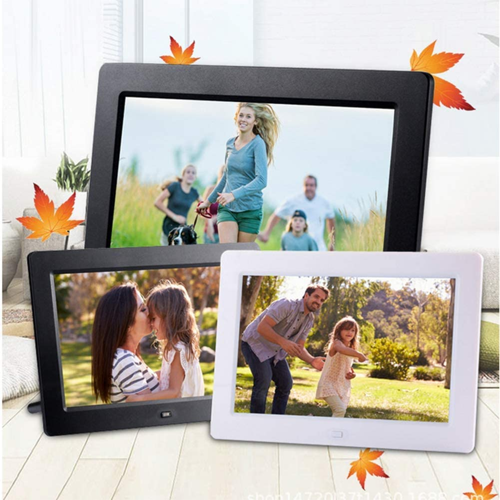 Digital Photo Frame Electronics Picture Frame 1280800 IPS Screen Music Stereo //MP3//Calendar//Clock//Time//Remote Control,Black Digital Picture Frame 10 Inch