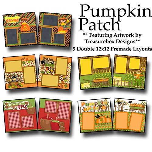 PUMPKIN PATCH Scrapbook Set - 5 Double Page Layouts