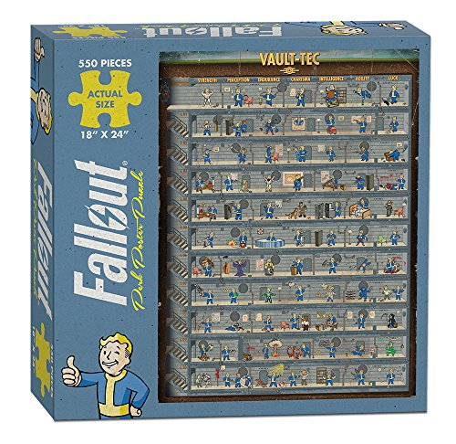 USAOPOLY PZ110-475 Fallout Perk Poster Puzzle, Multicolor