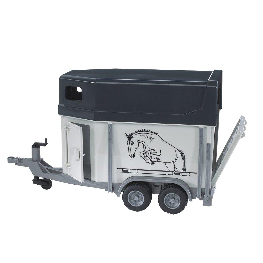 BRUDER - 02028 - Van avec un cheval - Gris
